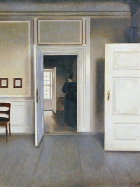 Woman in an Interior, Strandgrade 30, 1901 by Vilhelm Hammershoi