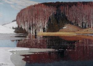 Spring Waters (Maestos), 1910 by Vilhelms Purvitis