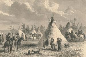 Village of Prairie Indians, C19th Century