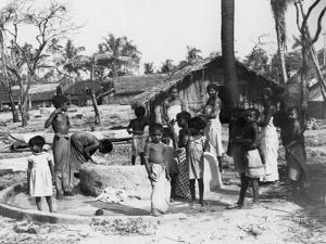 Village Scene, Trincomalee, Ceylon, 1945