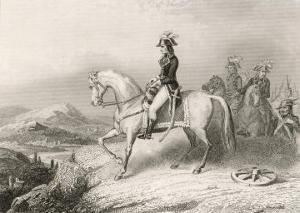 Napoleon I on His Horse During the Crossing of the St. Bernard Pass from France to Italy in 1796 by Villerey