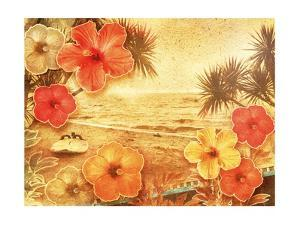 Tropical Vintage Beach by Vima
