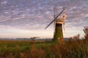 Windmill on the Norfolk Broads at Sunrise by Vince Burton