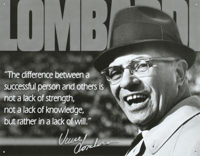 Vince Lombardi Successful Person Quote Sports