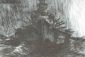 Bismarck in heavy weather, 2004, by Vincent Alexander Booth