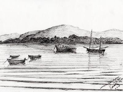 Boats off Iona, 2007,