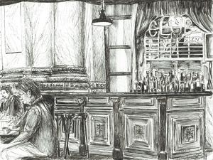Cafe at the Royal Exchange, Manchester, 2011 by Vincent Alexander Booth