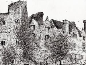 Castle Ruins at Hay on Wye, 2007 by Vincent Alexander Booth
