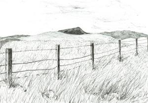 Culter Fell from Hartfell, 2005, by Vincent Alexander Booth