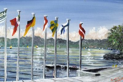 Flags on Lac Leman, 2010