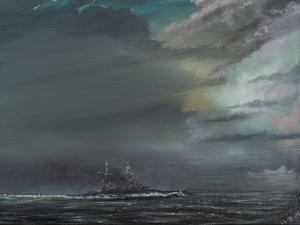 HMS Hood 1941 by Vincent Alexander Booth