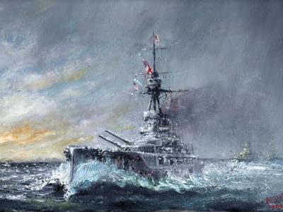 HMS Iron Duke, 'Equal Speed Charlie London' Jutland 1916, 2015