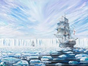 James Clark Ross Discovers Antarctic Ice Shelf, Jan, 1841, 2016 by Vincent Alexander Booth