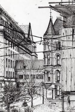 Manchester Town Hall from City Art Gallery, 2007 by Vincent Alexander Booth