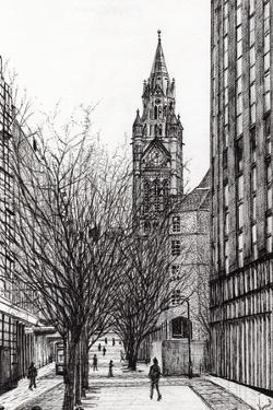 Manchester Town Hall from Deansgate, 2007 by Vincent Alexander Booth