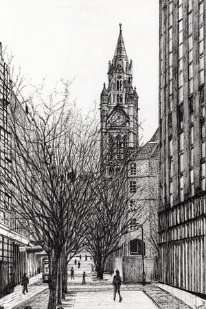 Manchester Town Hall from Deansgate, 2007