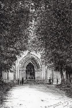 The Roman Door, L'Abbey De Blassimon, 2010 by Vincent Alexander Booth