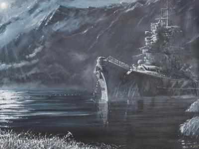 The Lone Queen of the North, Tirpitz, Norway 1944 by Vincent Booth
