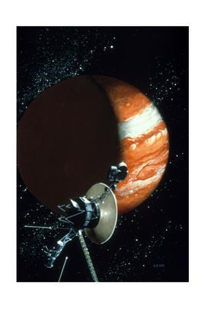 Voyager 1 with Camera and Antenna Trained on Jupiter by Vincent Difate
