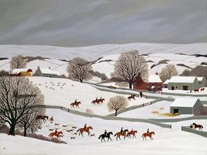 Riding in the Snow by Vincent Haddelsey