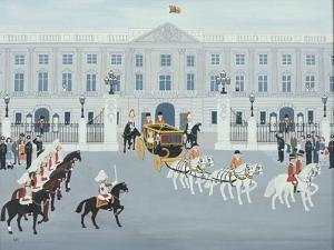 State Procession Leaving Buckingham Palace by Vincent Haddelsey