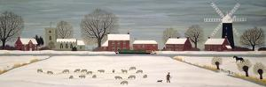Winter Scene in Lincolnshire by Vincent Haddelsey