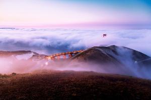 Above the Fog at Golden Gate Bridge, San Francisco by Vincent James