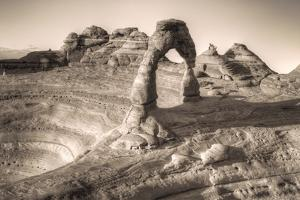 Alternate View at Delicate Arch (Sepia Toned), Utah by Vincent James