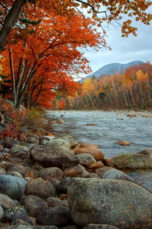 Autumn in New Hampshire, Riverside, Conway, Lincoln, Kancamagus by Vincent James