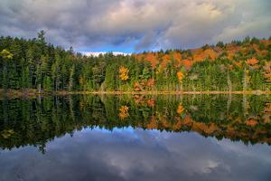 Autumn Reflections at White Mountains Lake, New Hampshire by Vincent James