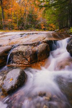 Autumn Secret New Hampshire Creek Mountain Flow New England Fall by Vincent James