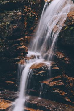 Autumn Secret Waterfall New Hampshire Creek Mountain Flow New England Fall by Vincent James