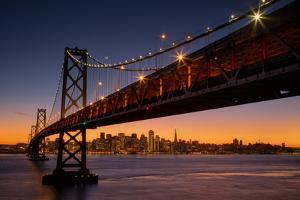 Bay Bridge and San Francisco Cityscape, California by Vincent James