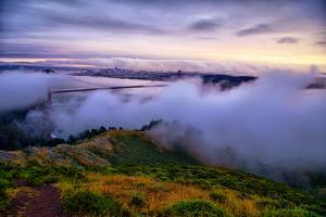 Blustery Foggy Golden Gate Bridge, San Francisco Cityscape by Vincent James