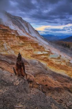 Canary Springs Drama, Yellowstone National Park, Wyoming by Vincent James