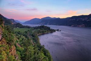 Clean Spring Morning at Columbia River Gorge, Oregon by Vincent James