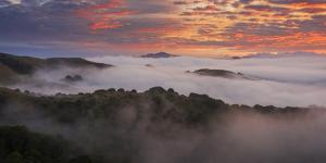 Clouds And Fog Mount Diablo Bay Area Clouds Sunrise Fire by Vincent James