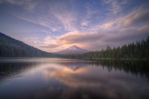Cloudscape Reflection at Trillium Lake, Oregon by Vincent James