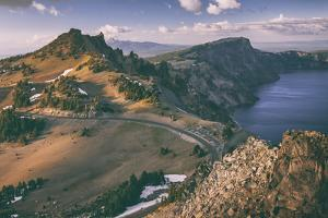 Crater Lake Rim Shot, Southern Oregon, Crater Lake National Park by Vincent James
