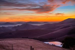 Dark Mood and Sunrise Hills, Petaluma Sonoma County, Bay Area by Vincent James