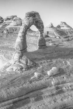 Delicate Arch Viewpoint in Black and White, Arches Utah by Vincent James