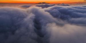 Diablo Red Sun Rising - Classic Epic Sunrise Mount Diablo San Francisco East Bay by Vincent James
