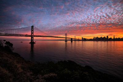 Divine Clouds and Cityscape at Sunset, San Francisco Bay by Vincent James