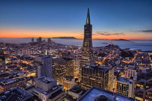 Downtown After Sunset, San Francisco, Cityscape, Urban View by Vincent James