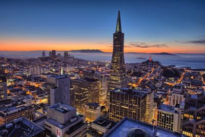 Downtown After Sunset, San Francisco, Cityscape, Urban View