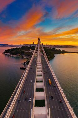 East to West Bay Sunset - Oakland to San Francisco by Vincent James
