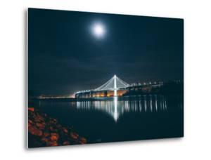 Eastern Span Bay Bridge Under Moonlight, Oakland by Vincent James