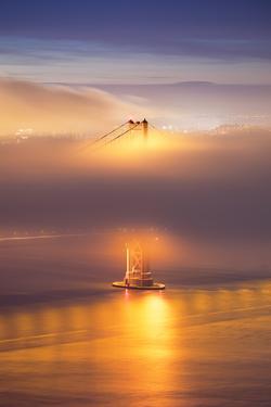 Elegant Gold, Ethereal Bridge, Golden Gate, San Francisco by Vincent James