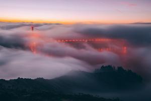 Envelope, Golden Gate Bridge in Fog, San Francisco Bay Area by Vincent James