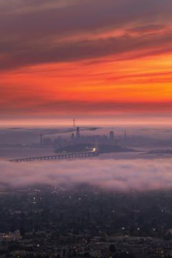 Epic Smoky Burn Over San Francisco Bay, Epic Smoke and Fog by Vincent James
